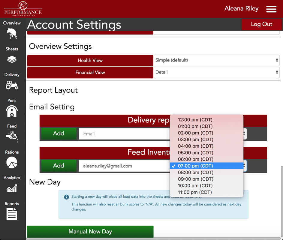 Feed Inventory Alerts
