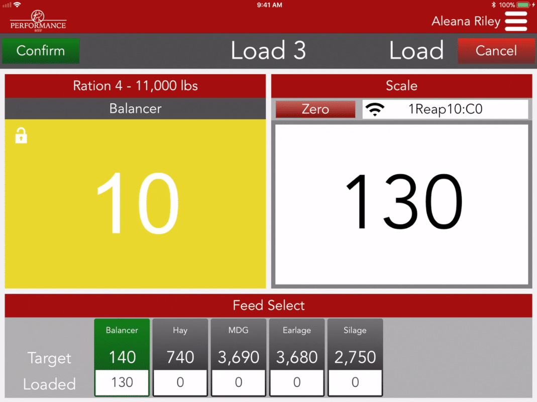 Performance Beef Scale App