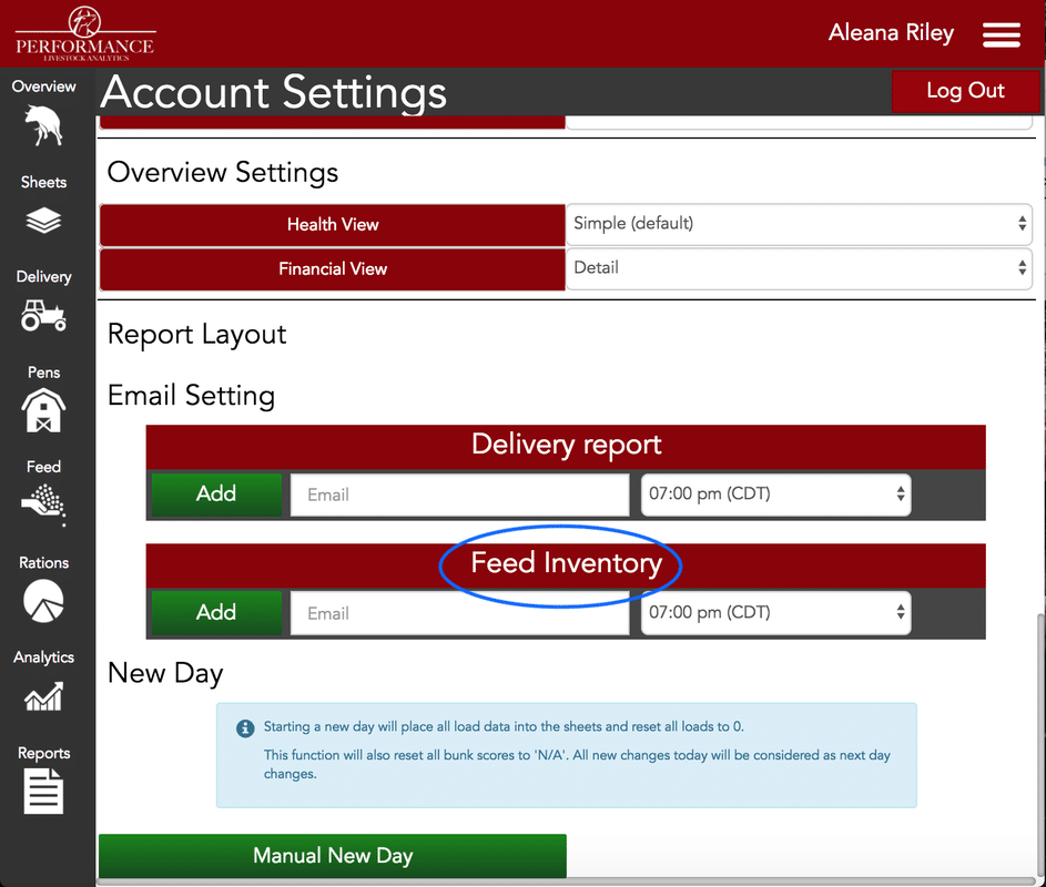How to Share Feed Inventory Alerts
